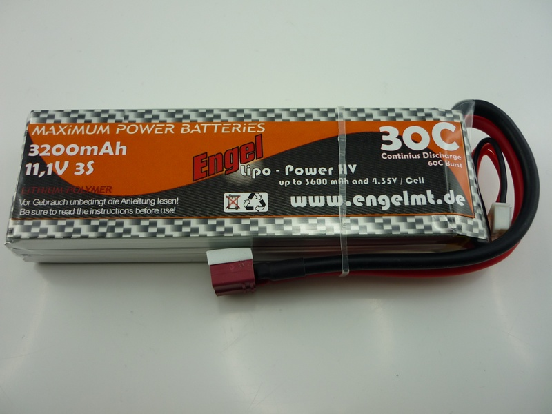 Engel-HV-Lipo-Power 3200mAh/3S 11,1V, 30/60C