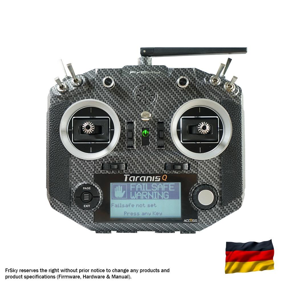 Taranis Q X7S Sender, carbonfiber, dt. Menüführung/Sprache