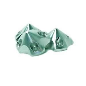 Alu-3D-Spinner small silber