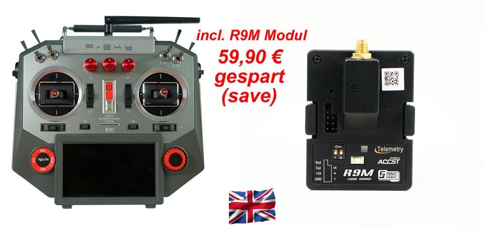 Horus X10 EU/LBT Silver Kombo incl. HF-Modul R9M