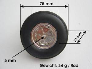 Leichträder 75 mm
