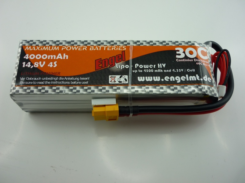 Engel-HV-Lipo-Power 4000mAh/4S 14,8V, 30/60C