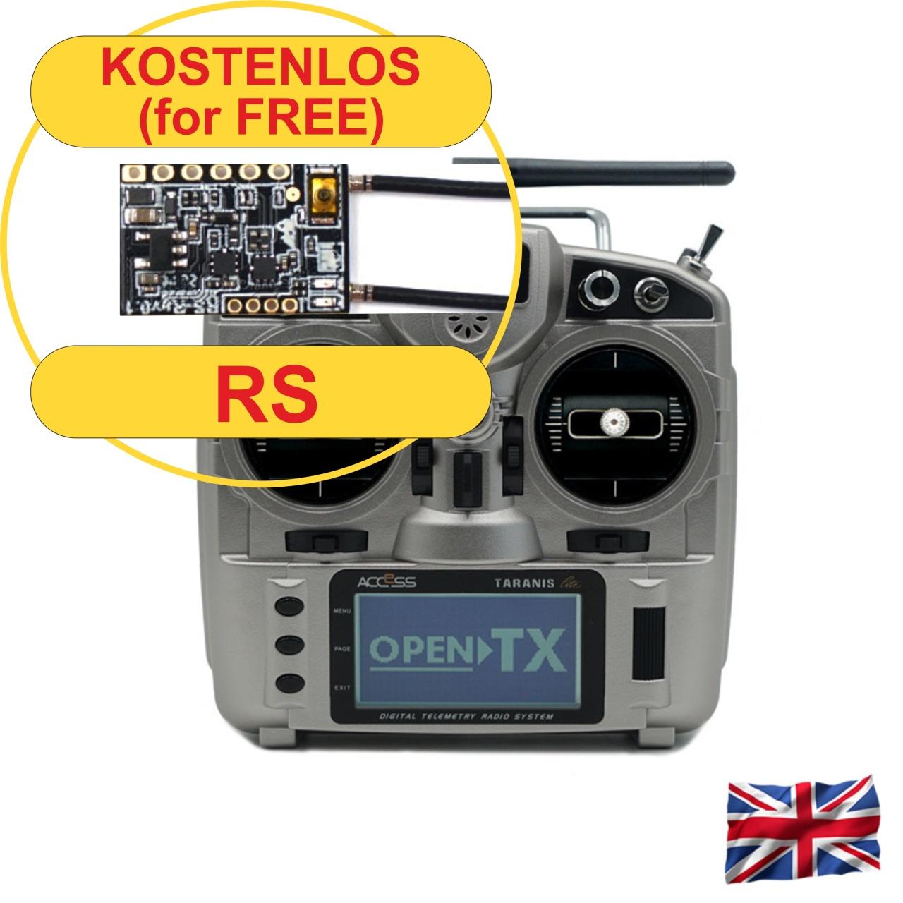 TARANIS X9 Lite -S- EU/LBT FrSky transmitter silver
