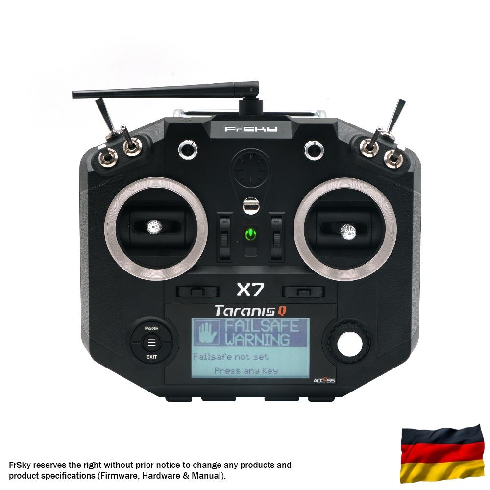 Taranis Q X7 Sender m. Tragegurt, schwarz, dt.Menüf./Sprache