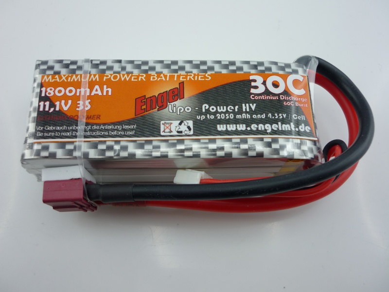 Engel-HV-Lipo-Power 1800mAh/3S 11,1V, 30/60C
