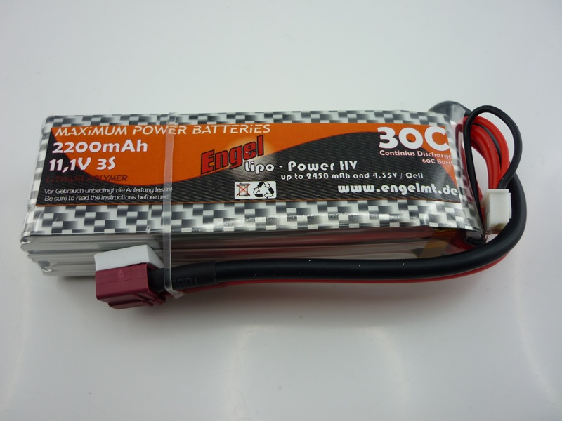 Engel-HV-Lipo-Power 2200mAh/3S 11,1V, 30/60C