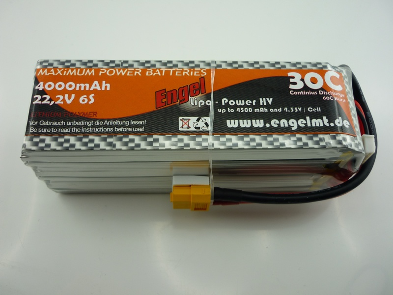 Engel-HV-Lipo-Power 4000mAh/6S 22,2V, 30/60C
