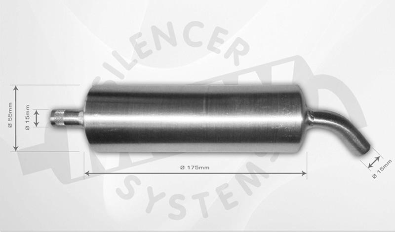 Alu-Muffler 4-Stroke 40-60 ccm