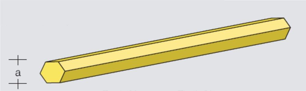 Hexagonal brass rod 1000x4,0mm