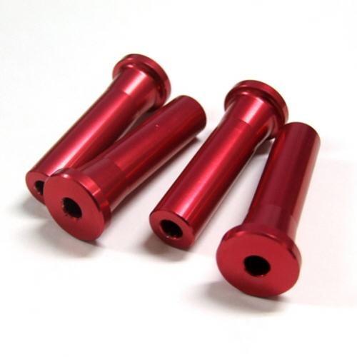 Alu-Abstandshalter 50mm rot für 5mm Schraube