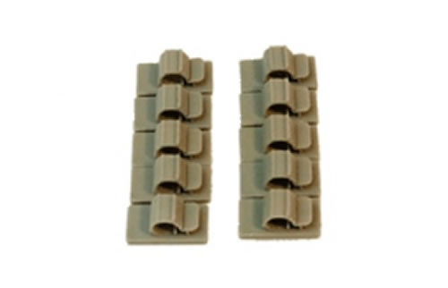 cable bracket (S) self-sticking 6 mm gray