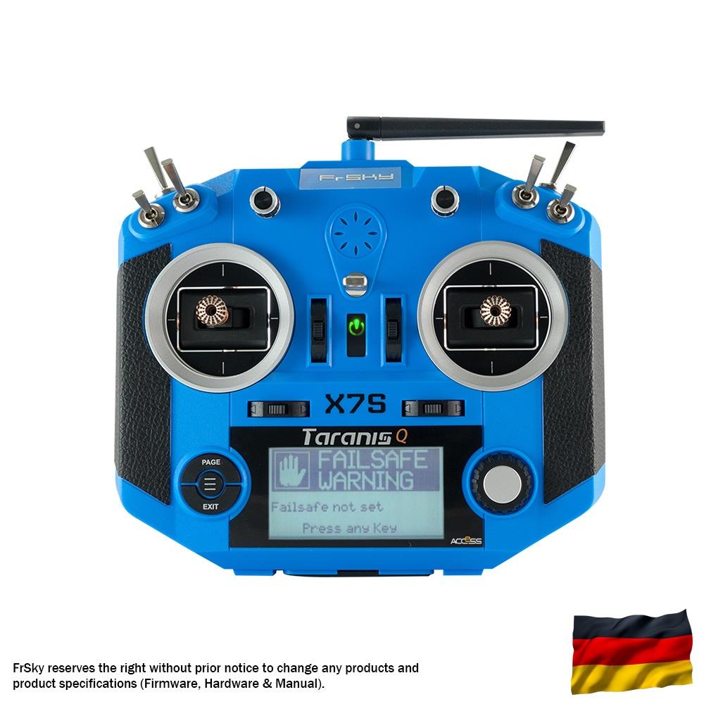 Taranis Q X7S Sender, blau, dt. Menüführung/Sprache