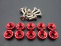 Alu-Unterlegscheiben für Servoschrauben M3 rot