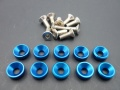 servo bolt washer M3 blue