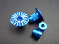 Gimbal Stick Ends 3D Umbrella Style M3, blue