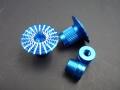 Knüppelgriffe 3D Umbrella Style M4, blau