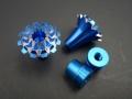 Knüppelgriffe 3D Grande Lotus Style M3, blau