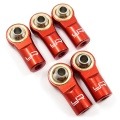 Aluminum M3 Rod Ends 5pcs Red