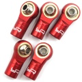 Aluminum Reversed Thread M3 Rod Ends 5pcs Red